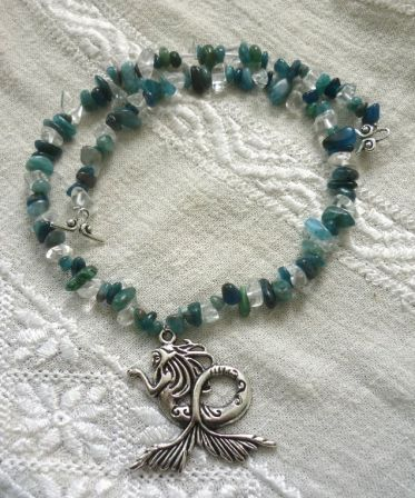 collier Nymphe - cyanite